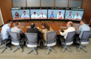 video conferencing users in telepresence meeting