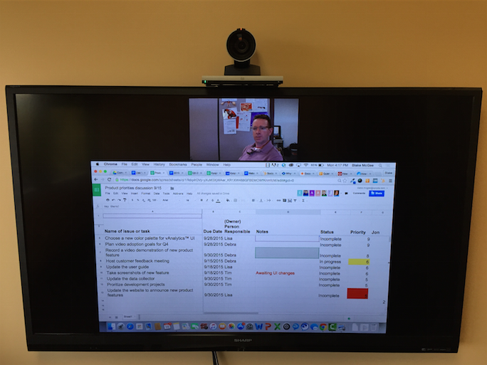 Videoconferencing + Google Sheets = Killer Collaboration
